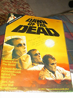 DAWN OF THE DEAD - SIGNED w/ Inscription  POSTER BOOK by George A Romero ZOMBIE