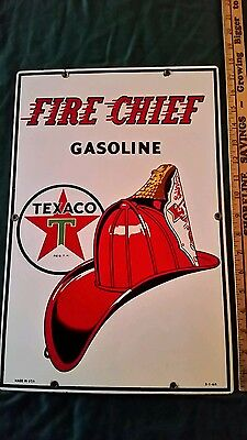 Texaco fire chief sign