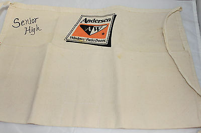 Andersen Windows Patio Doors worn cloth Canvas tool/nail apron/pouch handyman