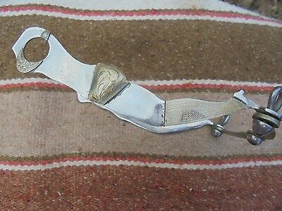 Western Handmade Gal Body Silver Mounted Bit With A Copper Port