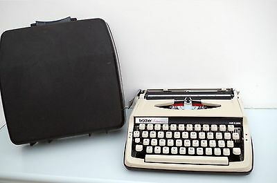 Brother Portable Typewriter - In Good Clean Condition With Case - Made In Japan