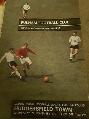 Fulham V Huddersfield Town 1967/68 League Cup