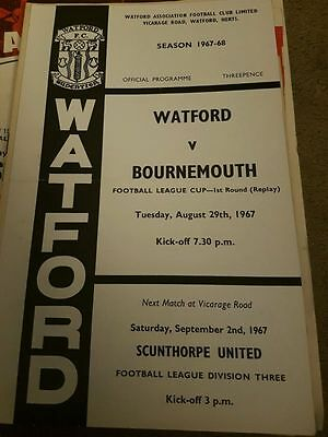 Watford V Bournemouth 1967/68 League Cup
