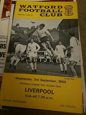 Watford V Liverpool 1969/70 League Cup