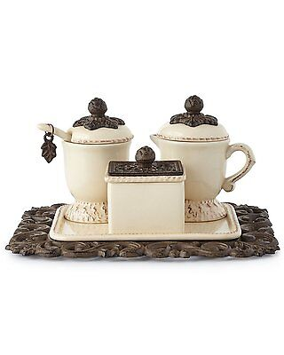 The GG Collection Creamer/Sweetener Set On Tray