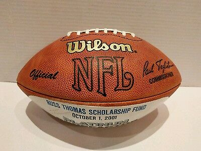2001 NFL Wilson K ball Football from Scholarship Fund to The Wisne Family