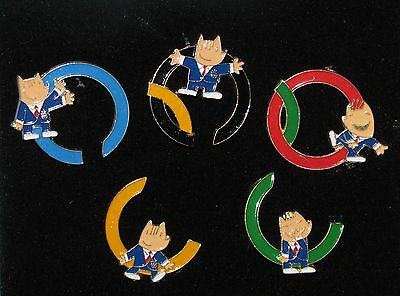 Olympic Colors Rings 1988 Pins Vintage Pin 1988