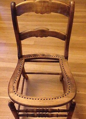 Antique Chair with Wicker Seat