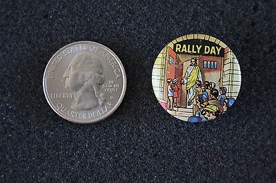 Rally Day Church Religion Jesus Welcoming Pin Pinback Button #22304