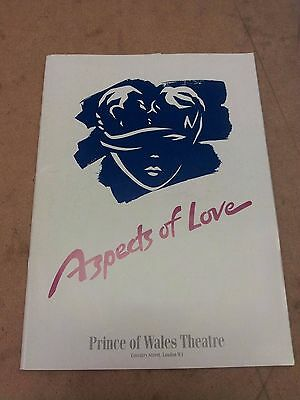 ^ Aspects of Love Playbill, Prince of Wales Theatre