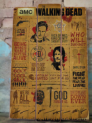 THE WALKING DEAD tv Movie Vintage WOOD Retro Sign poster - 600mm x 900mm*NEW*