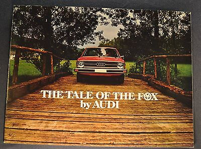 1976 Audi Fox Catalog Sales Brochure Excellent Original 76