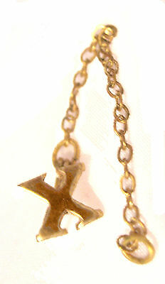"Official ""X"" Roman Numeral 10 Year Adult Girl Scout Pin Chain Guard Combine Ship"