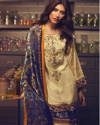 pakistani designer cotton lawn  salwar kameez anarkali UNSTITCHED SUIT