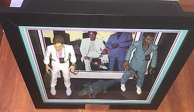 Miami Vice - Signed  Photo+Mezco Action Figures