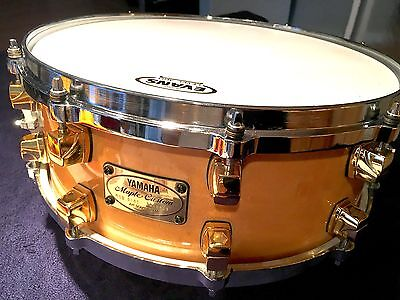 YAMAHA Vintage Maple Custom Snare Drum 5-1/2 x 14 Like New - Gorgeous