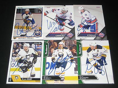 """BRIAN GIONTA autographed '16/17 BUFFALO SABRES """"Parkhurst"""" card *new*"""