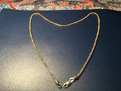 """Lady's Double Inter Twine 14k Solid Gold Necklace, 18.5"""" & 7 grams."""