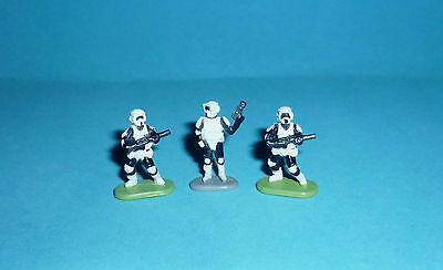 STAR WARS Micro Machines - 3 IMPERIAL SCOUT TROOPERS - figures lot