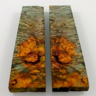 Stabilized Maple Burl Wood Stabilized Knife Scales,Wood Handle blank # 8696
