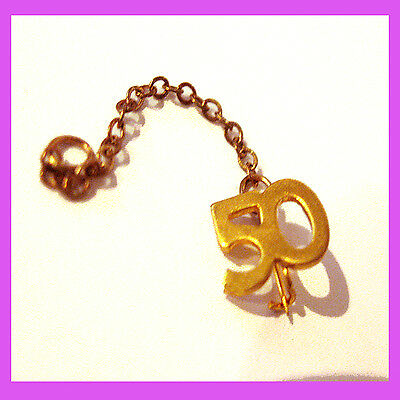 Official #50 YEARS PIN Numeral Guard Girl Scout Adult Uniform Chain EUC GIFT