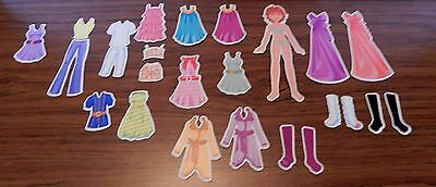 6 Inch Magnetic Paper Doll With 24 Accessories~Dress~Pants~Tops~Shoes