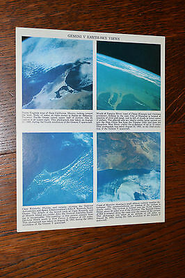 Four 8X10 Color Nasa Earth From Space Photos. Drawing of our Solar System