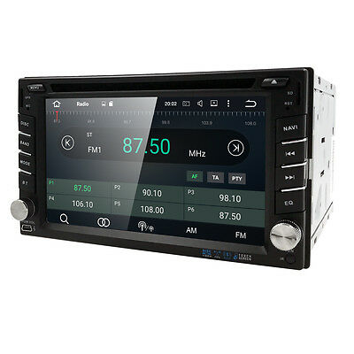 """Android 3G WIFI 6.2"""" Double 2DIN BT Car Radio Stereo DVD Player GPS Navigation H"""