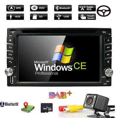 Double 2 Din Car Radio WinCE GPS Navigation System Bluetooth DVD iPod USB+3D Map