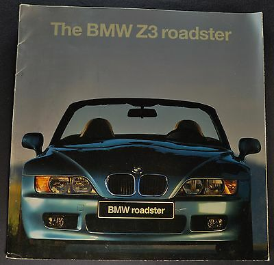 1996 BMW Z3 Roadster Catalog Sales Brochure Nice Original 96