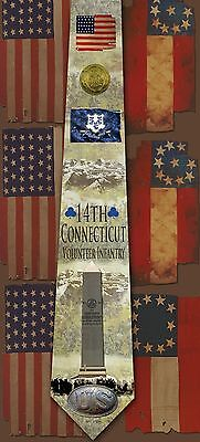 New 14th Connecticut Volunteer Infantry poly satin neck tie