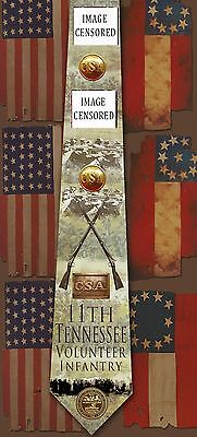 New 11th Tennessee Volunteer Infantry poly satin neck tie