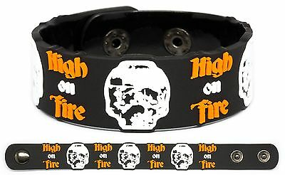 HIGH ON FIRE Rubber Bracelet Wristband Luminiferous De Vermis Mysteriis