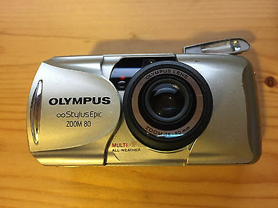 Olympus Stylus Epic Zoom 80  Point And Shoot 35mm Film Camera
