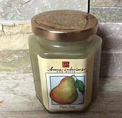 homco home interiors pear candle on jar new