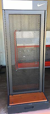 Nike Sporting  Apparel Fixtures- 2 Sided-2Ft. Wide Rolling Rack W/shelves & Bars