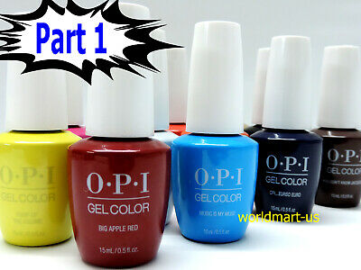 OPI GelColor UV/LED Soak off Gel Nail Polish 15ml/.5oz /Choose Any Colour Part 1