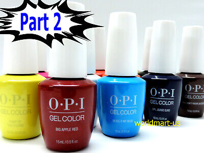 OPI GelColor UV/LED Soak off Gel Nail Polish 15ml/.5oz /Choose Any Colour Part 2