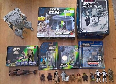 Star Wars - Endor Attack Lot - Power of the Force Figures  Bundle Lot Collection