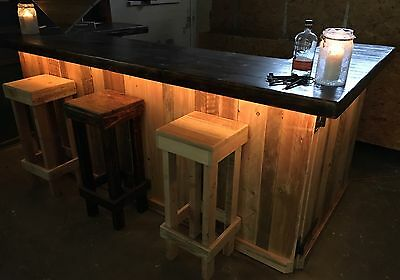 Mobile Pop Up Led Cocktail Bar Pub Coffee Events Rustic Portable Barn Wedding