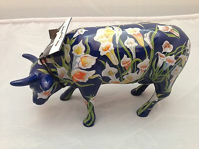 BNIB New Boxed COW PARADE COW OF LILIES #16168 Collectible World Studios