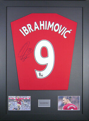 Zlatan Ibrahimovic Manchester United Signed Shirt framed display with coa