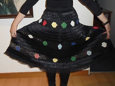 1950s made in Italy vintage raffia skirt