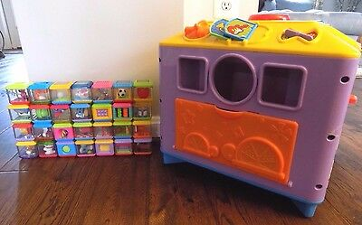 Fisher Price INCREDIBLOCK Toy Activity Center Cube Lot 28 Peek A Boo Blocks