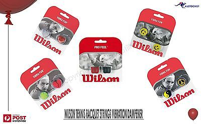 Wilson Tennis Racquet String Dampener Twin Pack 5 styles to choose from BNIB