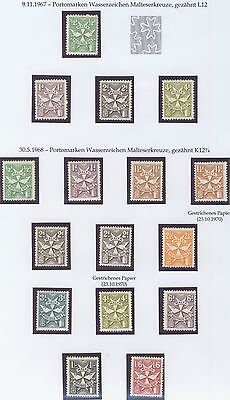 Malta 1967/70 postage dues both perfs. and papers MNH
