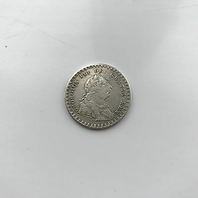 Silver Bank Token One And Sixpence 1811 King George Iii Good Fine Grade