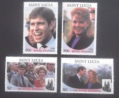 Saint Lucia-1986-Royal Wedding set-MNH