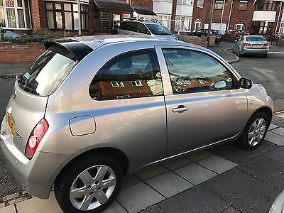 Silver Nissan Micra 2005