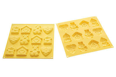 Stampo biscotti pasqua silicone Silikomart 12 MY lovely cookies HSH07 - Rotex